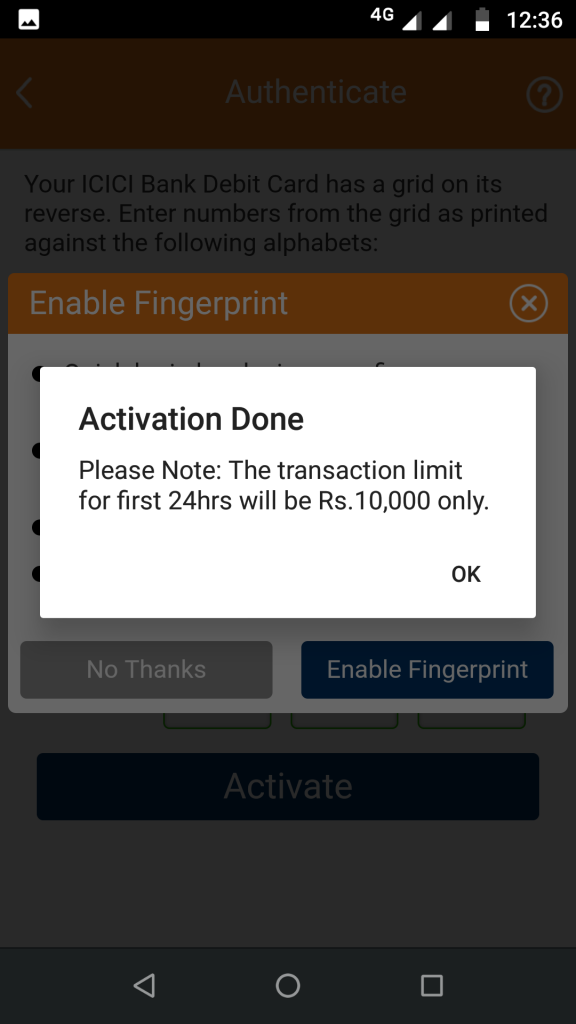 iMoble app activation done