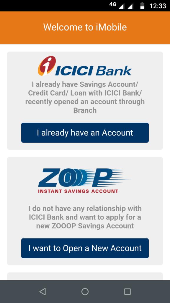 IMobile app - I already have an account