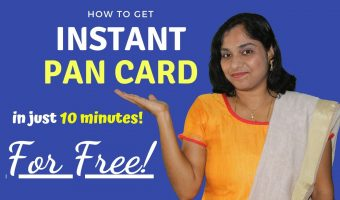How to get instant PAN card in 10 minutes (for free!)?