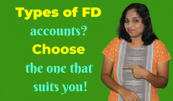 What are the types of Fixed deposit accounts available