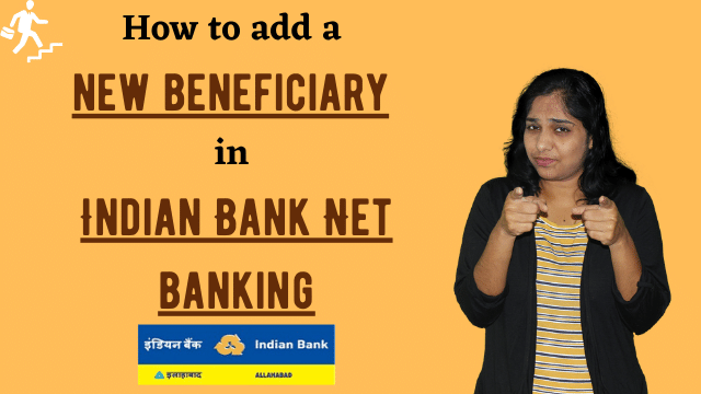 How to add a new beneficiary in Indian Bank Net banking | Step by step