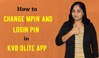 How to change mPIN and Login PIN in KVB DLite app