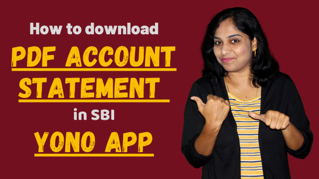 How to download PDF account statement in SBI YONO app?