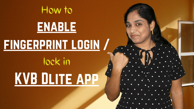 How to enable fingerprint login / lock in KVB DLite app