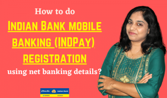 How to do Indian Bank mobile banking (INDPay) registration using net banking details?