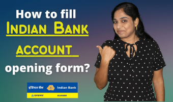 How-to-fill-Indian-Bank-savings-account-opening-form