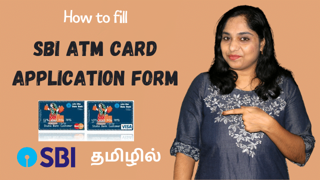 How to fill SBI ATM card application form in Tamil | SBI Debit card application form fill up demo