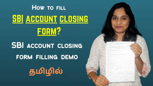 How to fill SBI account closing form? SBI account closing form filling demo