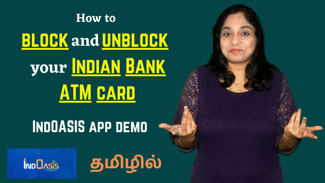 How to block and unblock your Indian Bank ATM card | IndOASIS app demo