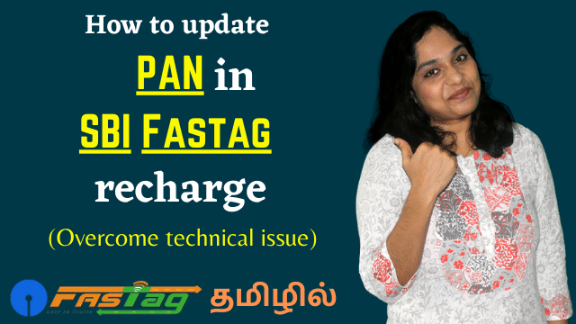 How to update PAN in SBI Fastag recharge in Tamil | Overcoming Technical issue