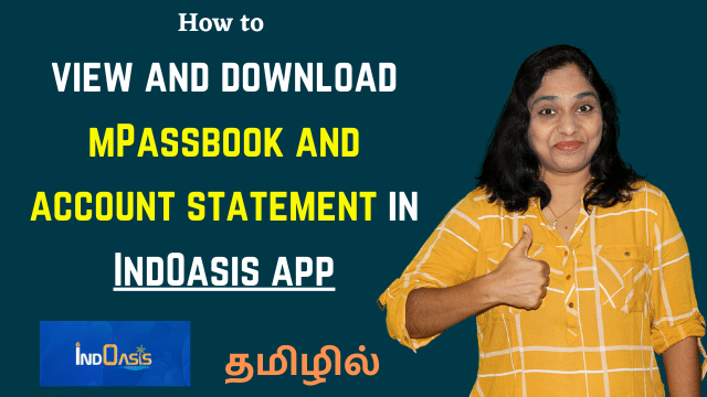How to view and download account statement mPassbook in IndOasis app | Indian Bank App Demo