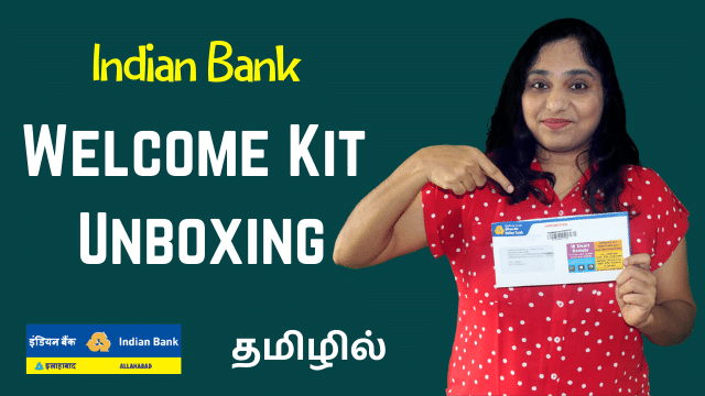 INDIAN BANK Welcome Kit Unboxing