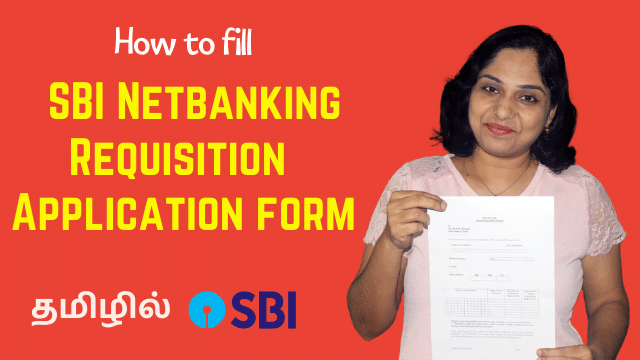 How to fill SBI Netbanking Requisition Application form