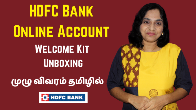 HDFC Online Account Opening - Welcome Kit Unboxing