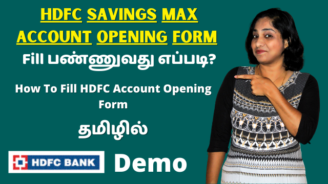 HDFC Savings Max Account Opening Form Filling Demo | How To Fill HDFC Account Opening Form